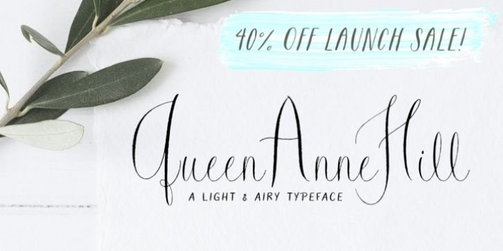 Queen Anne Hill font download