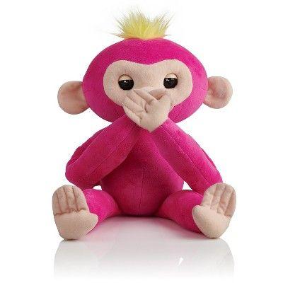 Fingerlings Hugs - Bella (Pink) - Friendly Interactive Plush Monkey