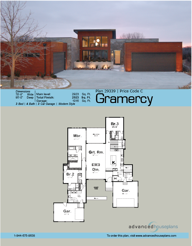 1 Story Modern House Plan Industrial House Plans Modern Style House Plans Modern Floor Plans