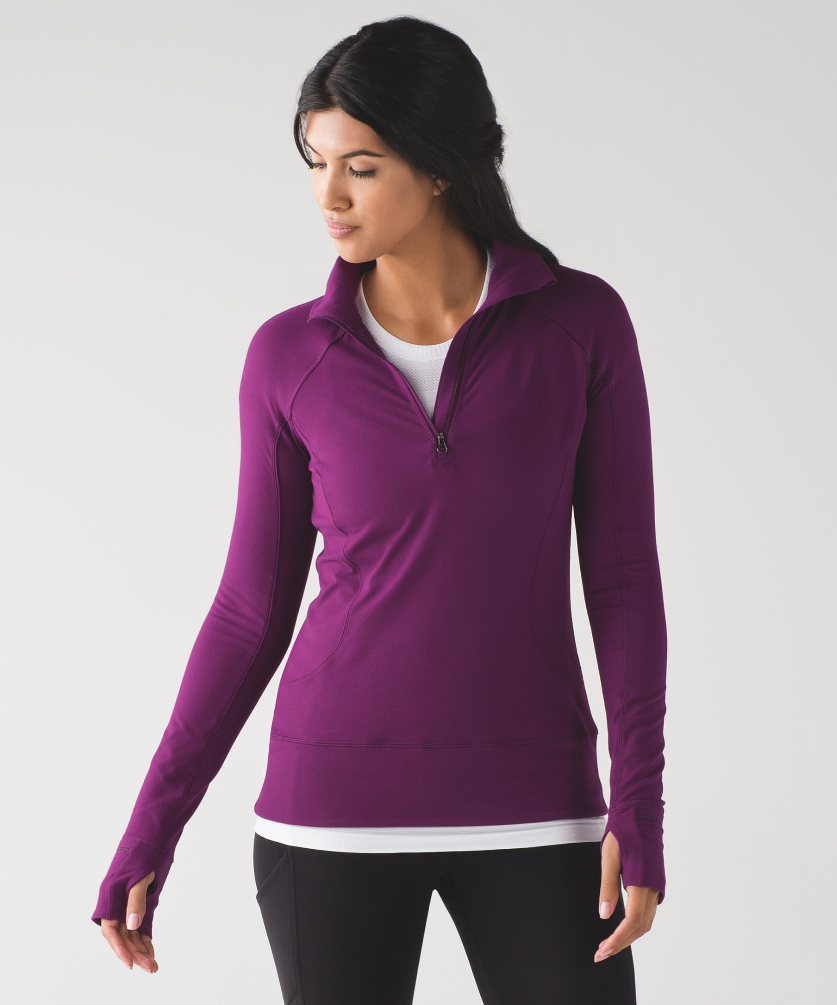 623802b6ee319 Women s Long Sleeve Running Top - Rush Hour 1 2 Zip - lululemon chilled  grape