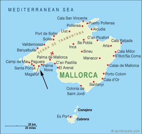 Map Of Majorca Holiday Resorts Magaluf is the major holiday resorts located in the southwest  Map Of Majorca Holiday Resorts