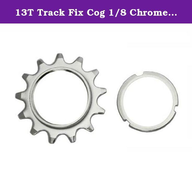13T Track Fix Cog 1/8 Chrome. Bike cog, bicycle cog for track bike, fixies, fixed gear bikes. 13T Track Fix Cog 1/8 Chrome.