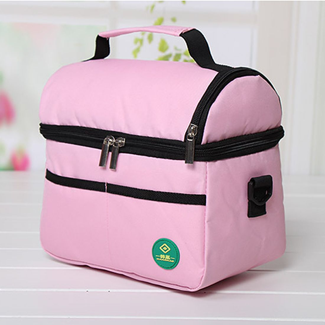 Double Layer Portable Lunch Storage Bag Thermal Cooler Camping Picnic Bento…