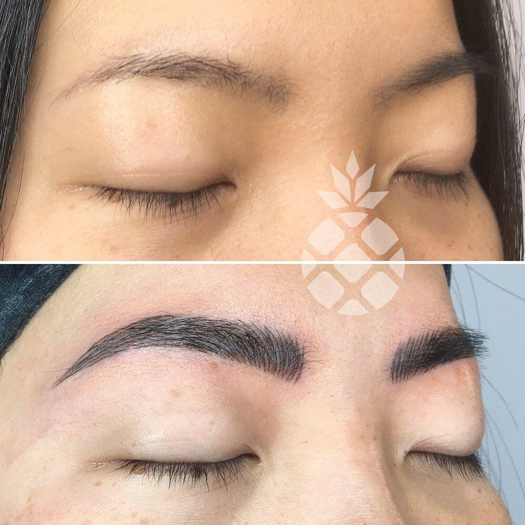 Cosmetic tattoo semi permanent makeup semi permanent brows
