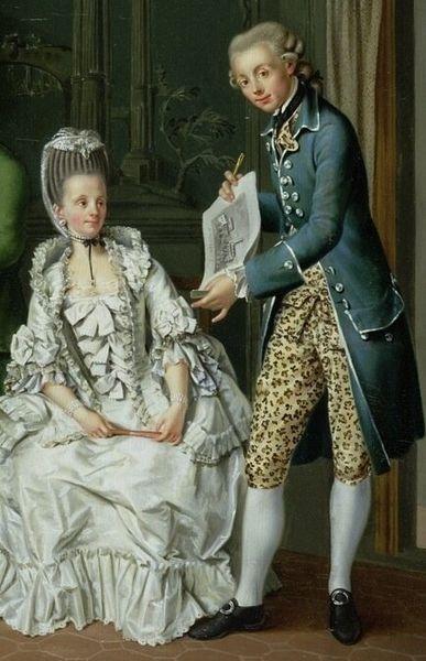 He an animal in dem breeches. Raaaawr.  18th Century leopard skin breeches.