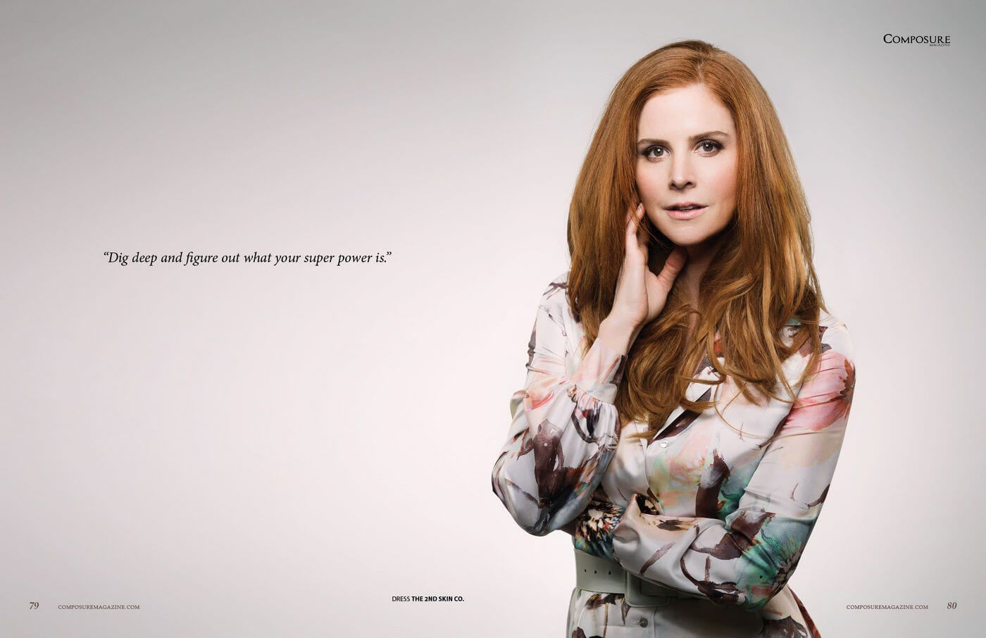 Actress Sarah Rafferty for Composure Magazine