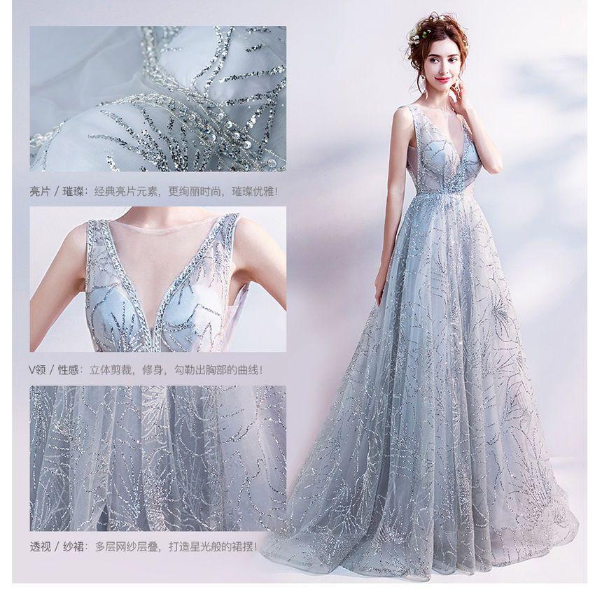 Angel Bridal Sleeveless Applique V Neck Evening Gown Yesstyle Evening Gowns Angel Bridal Evening Dresses Long