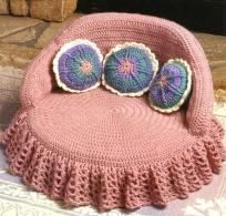 Princess Style Dog Bed Crochet  Pattern $7.00