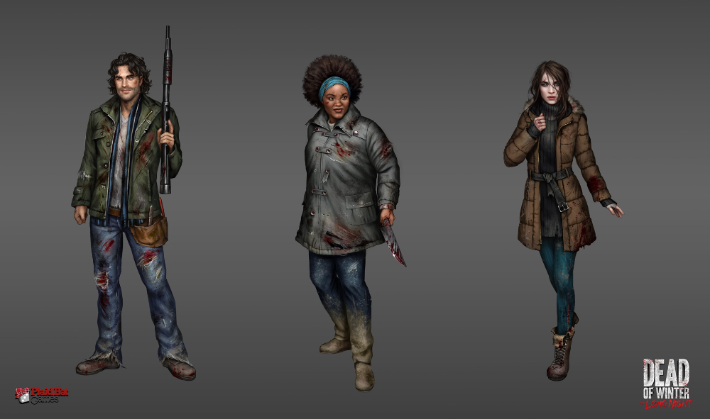 ArtStation Dead of Winter The Long Night characters 1