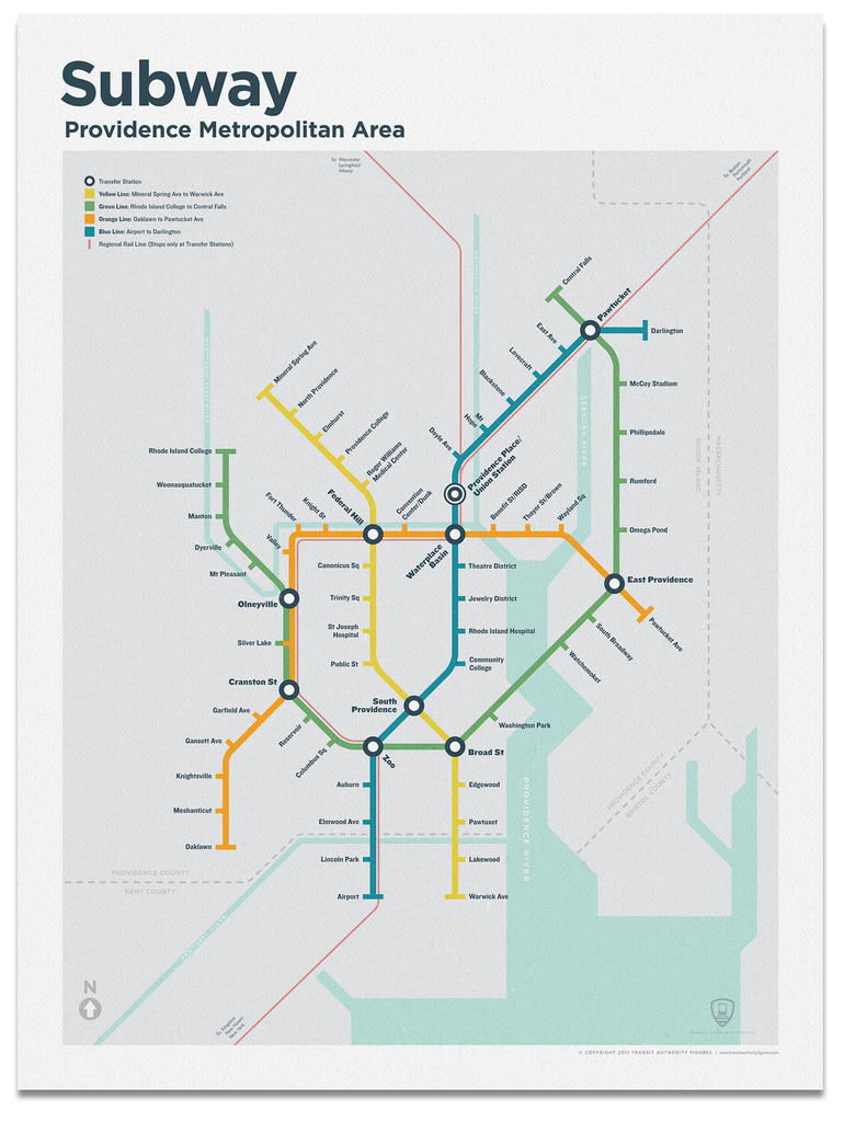 Providence Subway Map.Providence Subway Map In 2019 Art Subway Map Map Train Map