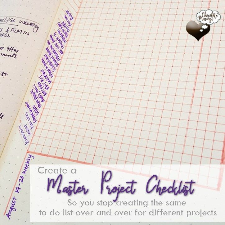 Eliminate The Same To Do List  Create A Master Project Checklist