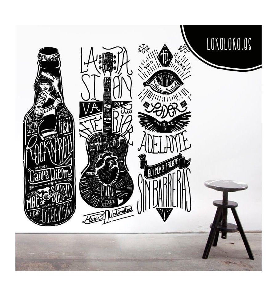Sin barreras adhesivo lo mismo y murales for Vinilos para bares