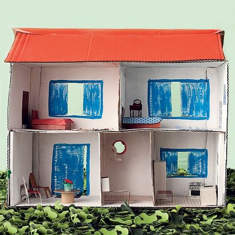 Como fazer uma casinha de bonecas com caixa de papel o - Casas embargadas la caixa ...