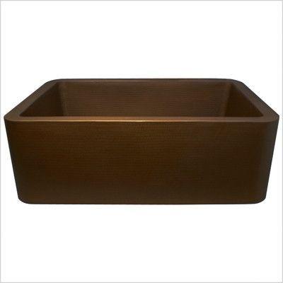 "Linkasink 25"" x 20"" Single Bowl Farmhouse Kitchen Sink Finish:"
