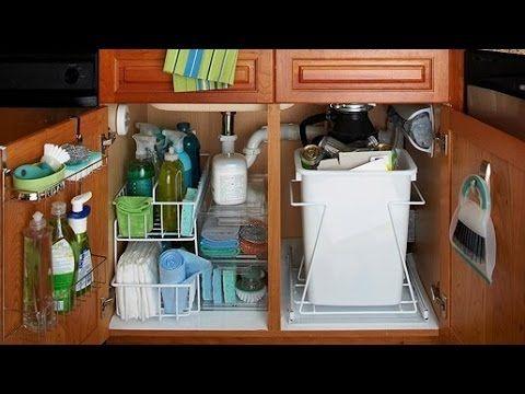 o Organizar Debajo Del Fregadero De La Cocina