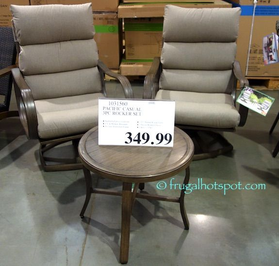 These swivel chairs also have a gentle rocking action so you can relax on  your porch or patio in comfort  Costco has the Pacific Casual RegencyPacific Casual Regency 3 Piece Cushion Cafe Set   Costco  . Costco Outdoor Furniture Cushions. Home Design Ideas
