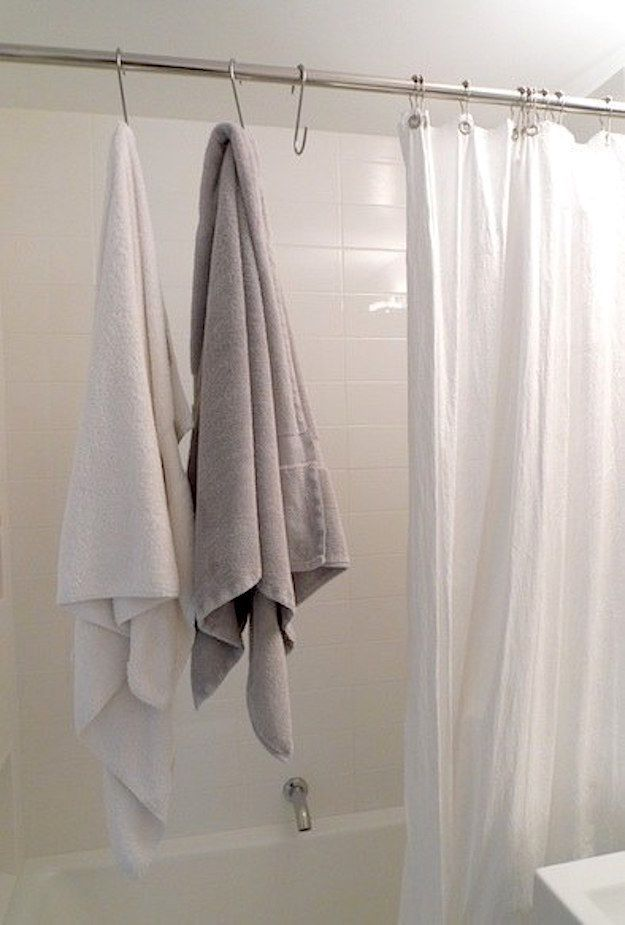 Make the most of every inch of space by using over the door organizers for everything from shoes - Towel racks for small spaces concept ...