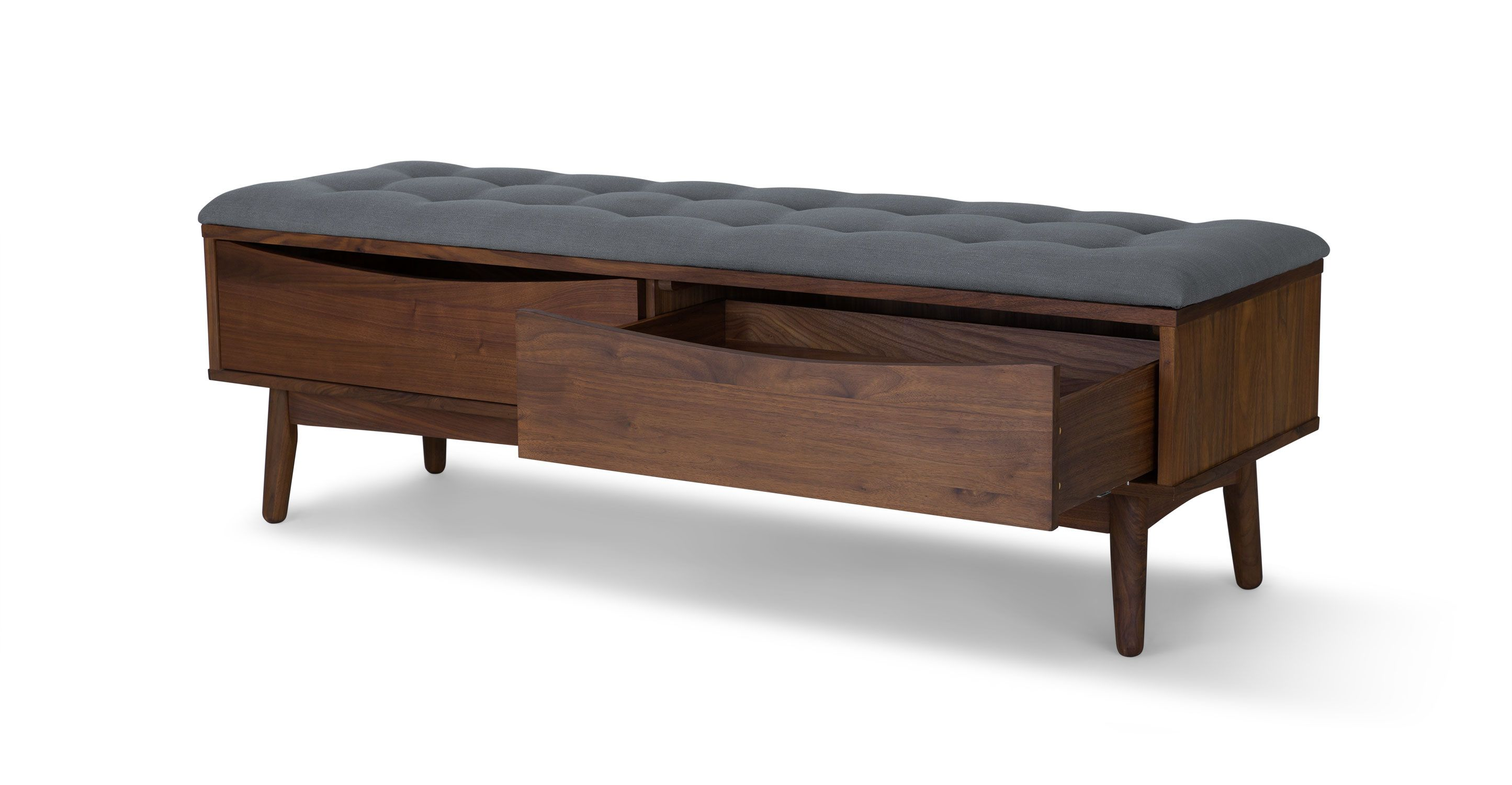 Culla walnut bench benches article modern mid century and scandinavian furniture