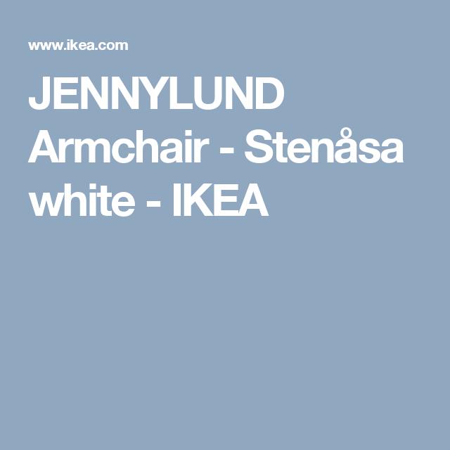 JENNYLUND Armchair - Stenåsa white - IKEA