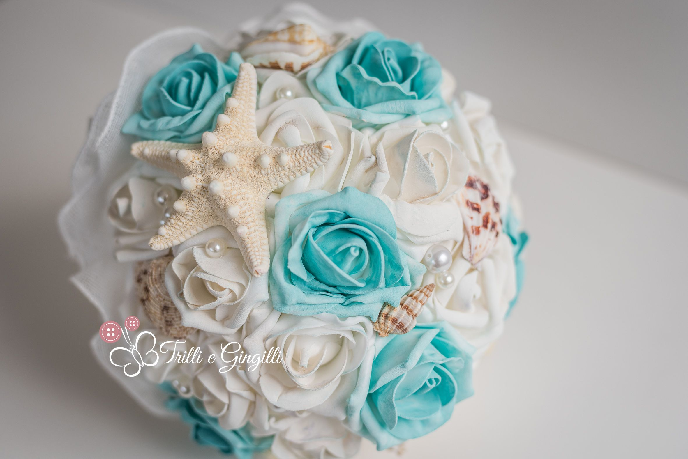 Bouquet Sposa Tiffany.Teal Wedding Bouquet Shells By Trilli E Gingilli Bouquet Tema