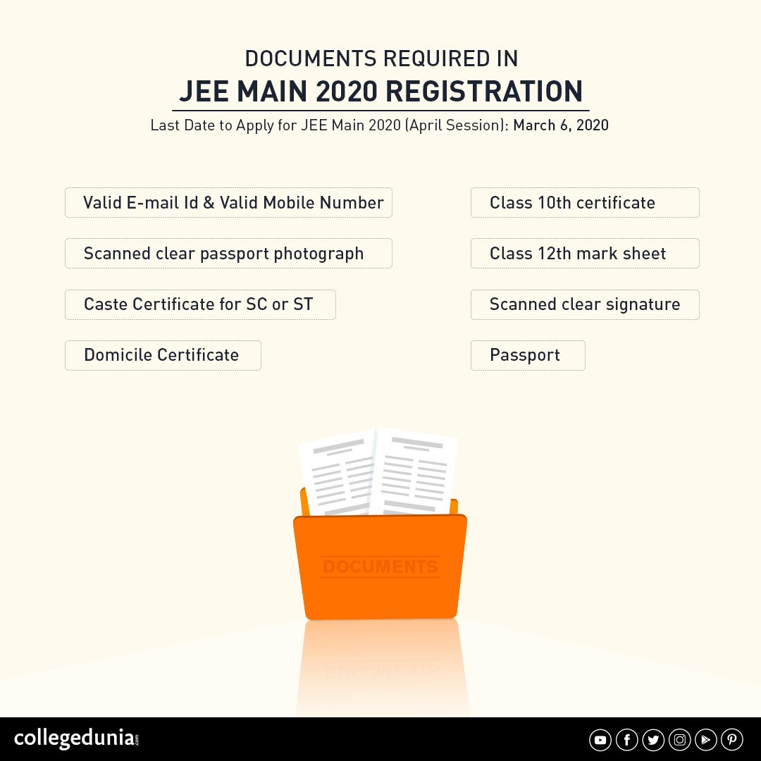 Jee Main 2020 April Application Form Register At Jeemain Nta Nic In In 2020 School Of Engineering Exam Maine