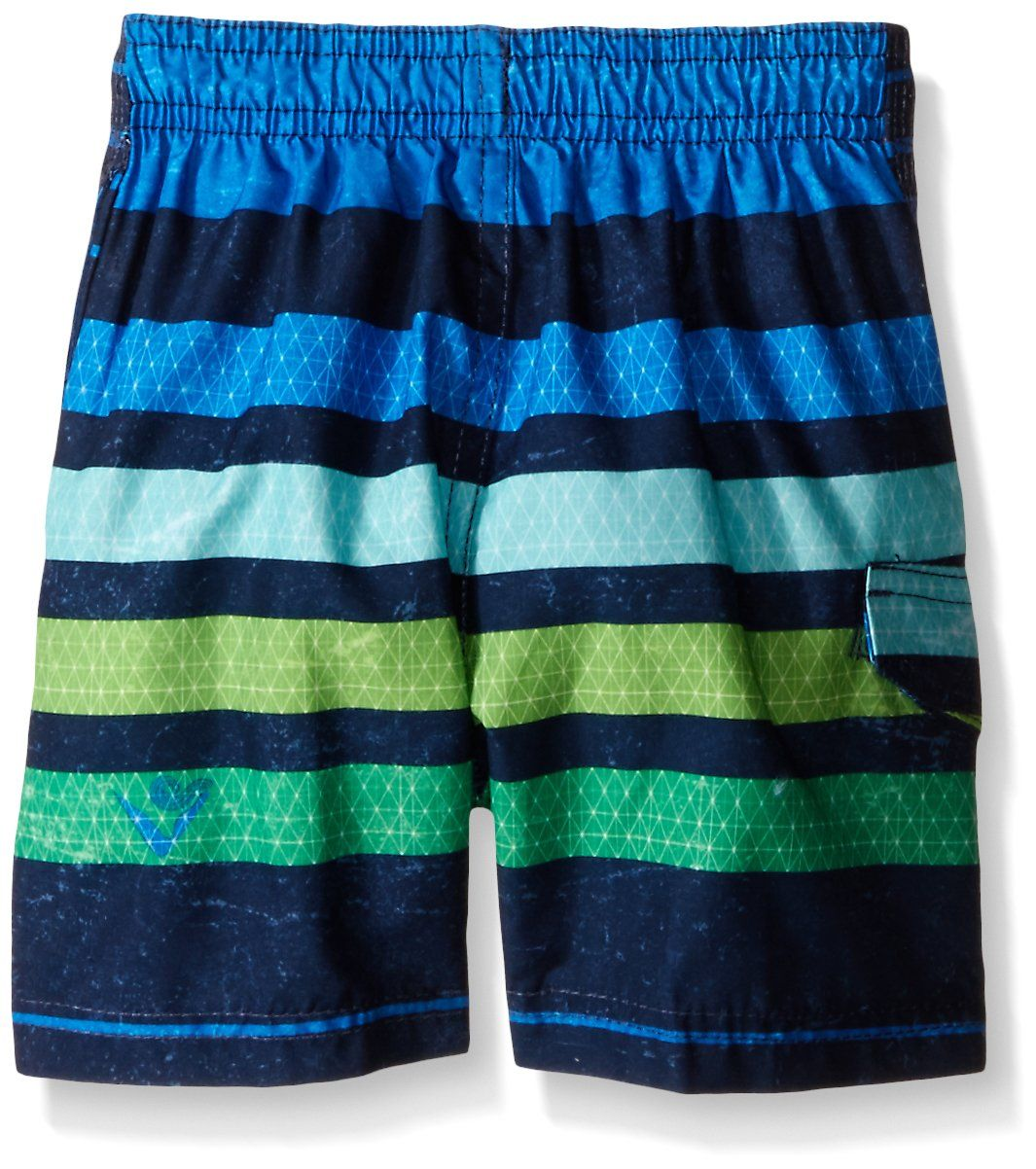 Kanu Surf Little Boys Toddler Echo Stripe Swim Trunk Blue