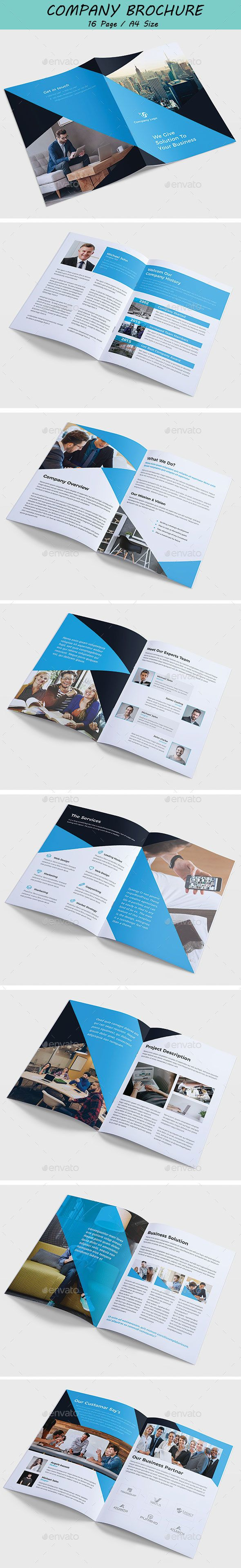 Company Brochure  Brochures Print Templates And Brochure Template