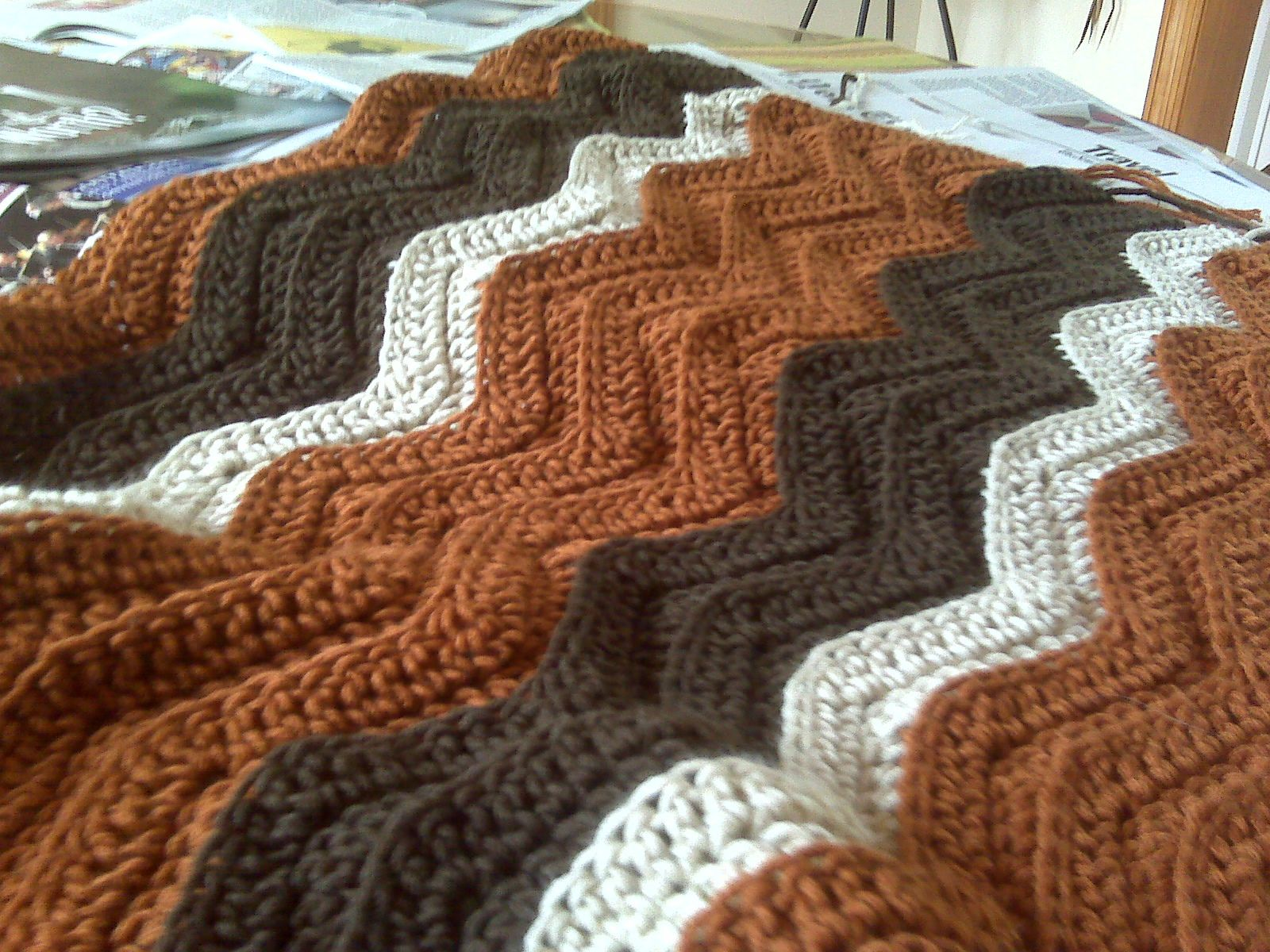 Ravelry: Easy Ripple Afghan by SusanB | Things to make | Pinterest