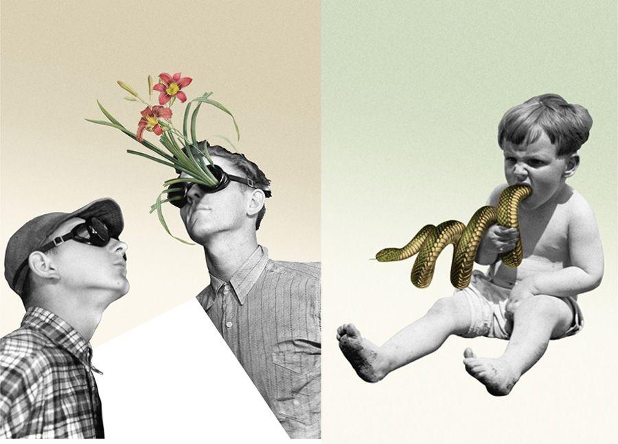 Surrealismo, metáforas y humor en los collages de Marcos Martínez ...