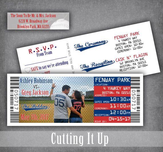 Tear Off Invitation Ticket Baseball Wedding Rsvp Ticket Stub Etsy Baseball Wedding Baseball Wedding Invitation Ticket Wedding Invitations