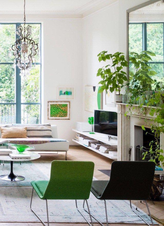 pantone 2017 interiors and design - interiors in greenery color of