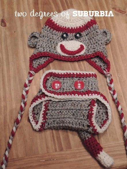 Patternformonkeysockhatdiapercover Sock Monkey For Sale