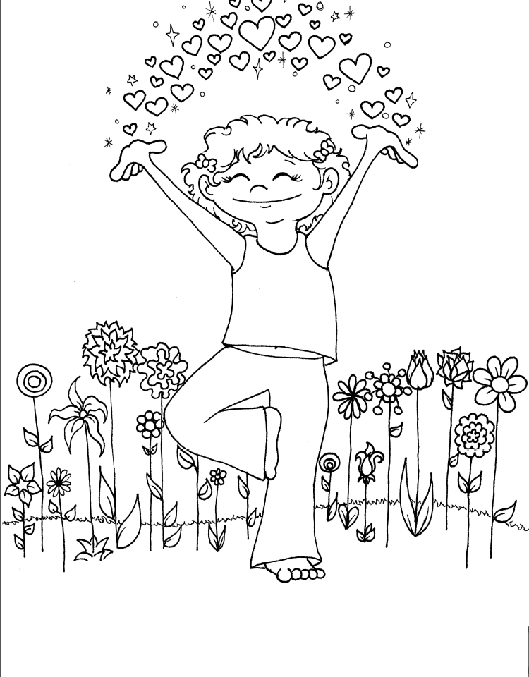 yoga coloring pages for kids - photo#15
