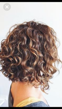 Image result for stacked spiral perm on short hair #curlshorthair