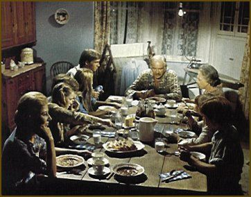 The Waltons It Was Always My Dream To Have A Family Gathered Around Table