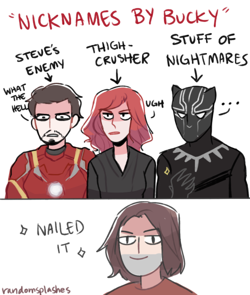 if bucky had to give nicknames for some people on team ironman