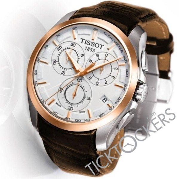 Tissot 1853 Coutrier Brown Leather Strap Men S Watch Watches For Men Tissot Watches Luxury Watches For Men