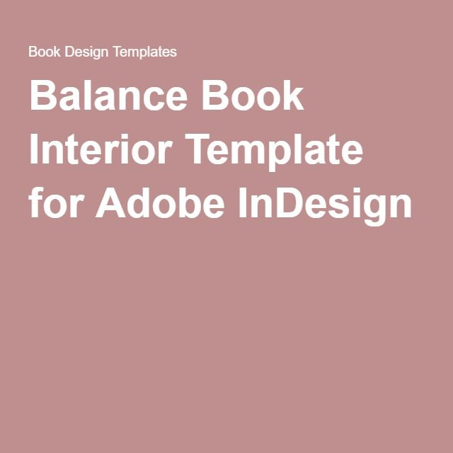 balance book interior template for adobe indesign family history