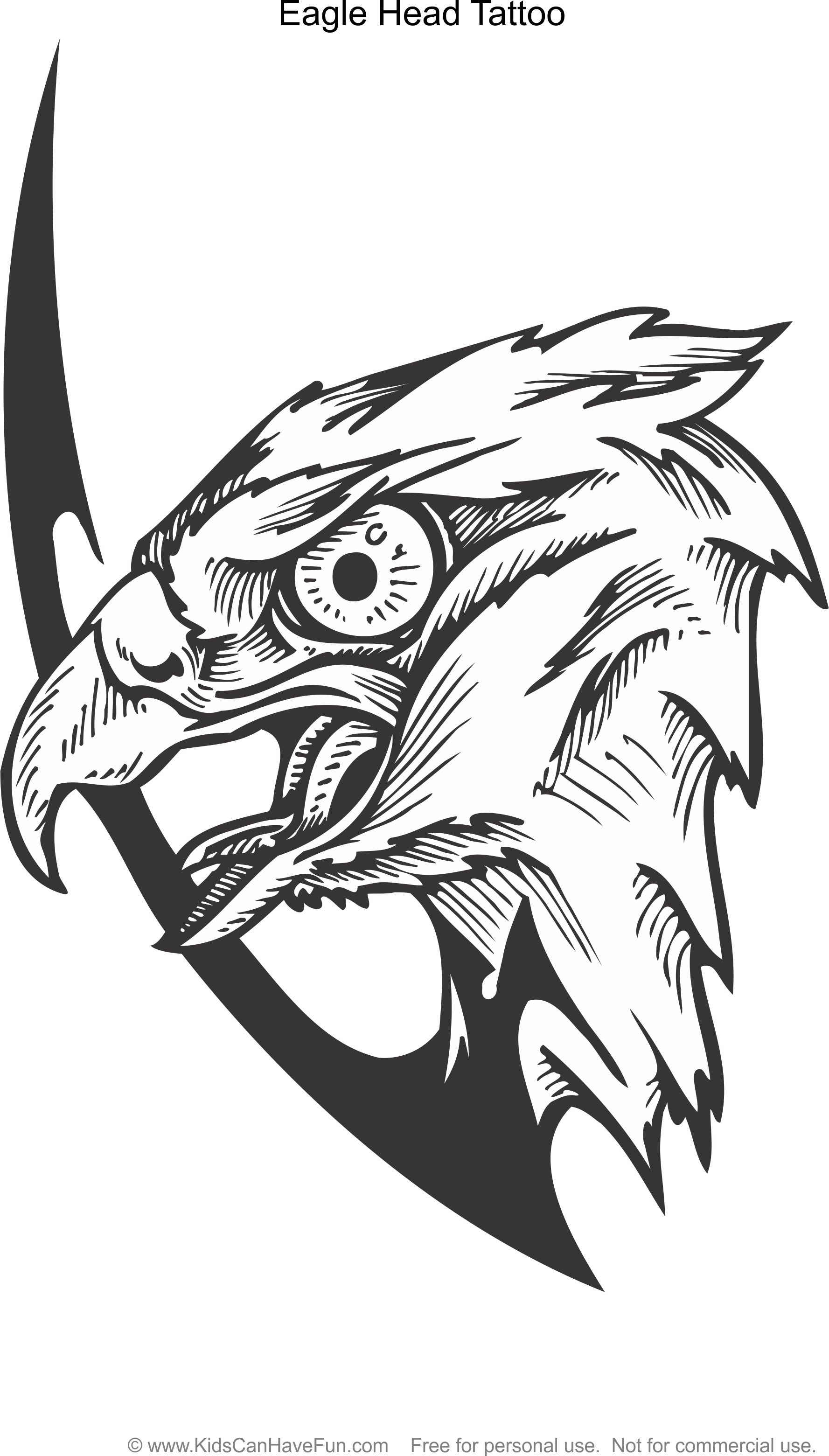 Eagle Head Tattoo Coloring Page Http Www Kidscanhavefun Com Tattoo Coloring Htm Eagle Tattoo Color Color Tattoo Eagle Head Tattoo Coloring Pages