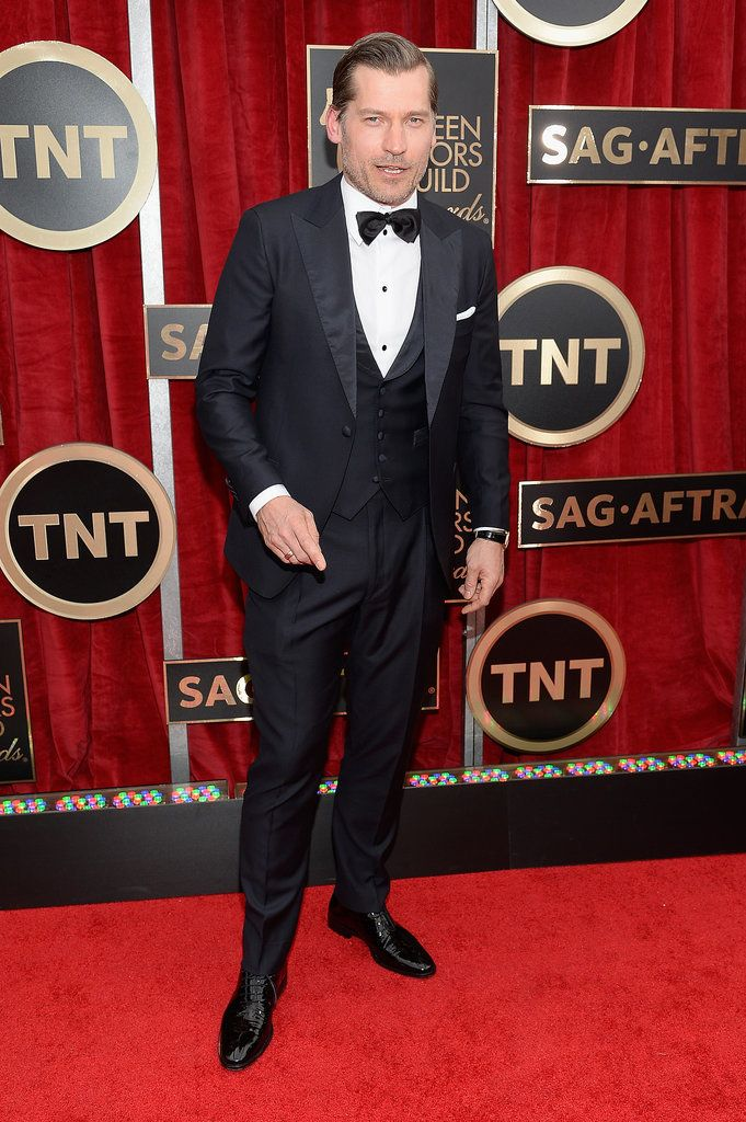 I usually ignore the men unless someone is outstandingly good... or egregiously bad. WTF, dude I've never heard of? WTF? Celebrities on the SAG Awards Red Carpet 2015 | POPSUGAR Celebrity