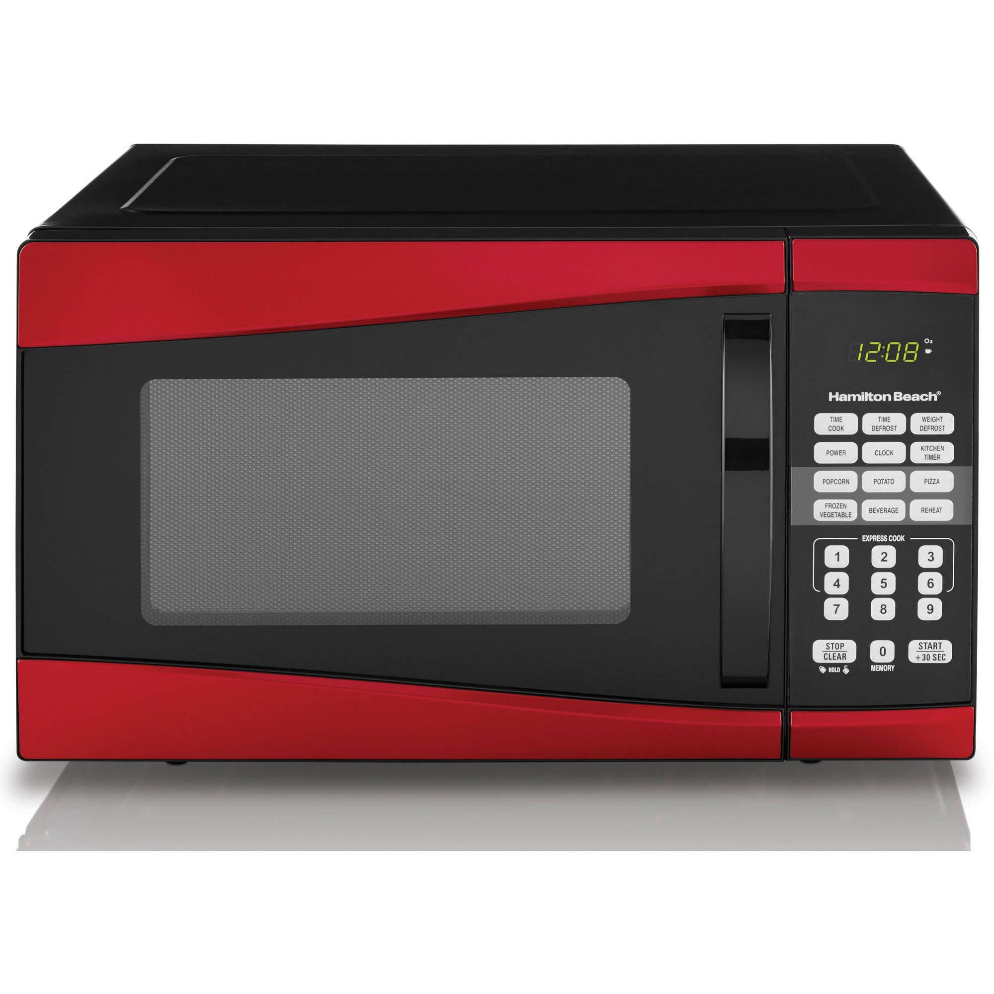 Hamilton Beach 0 9 Cu Ft 900w Stainless Steel Microwave Ad Cu