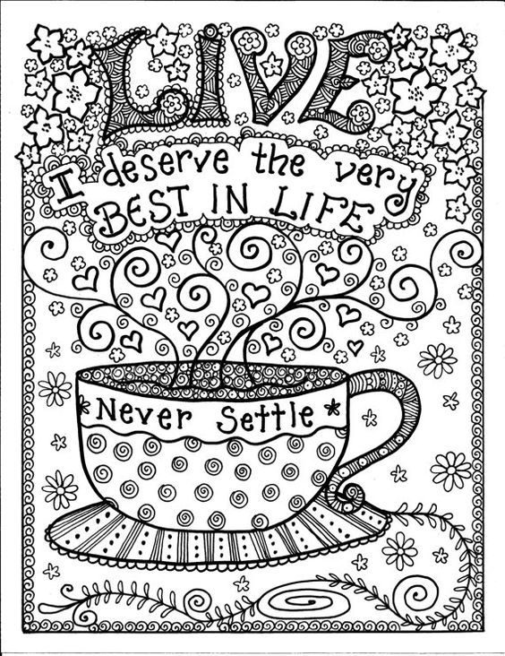 Coloring Pages for Teens Detailed coloring pages