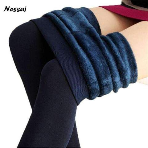 0ea22c0cbcbac Nessaj Women'S Candy Colors Women Pants Plus Velvet Thick Warm Leggings  Ladies Pants For Winter Super Elastic Women Leggings - PINkart.in