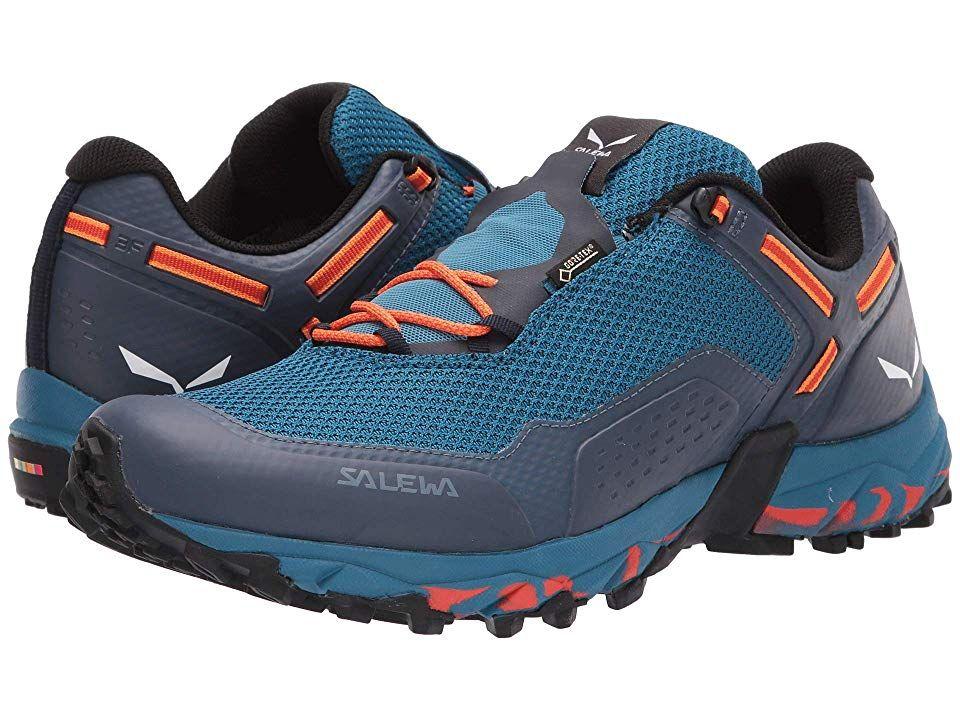 Salewa Speed Beat Gtx Men S Shoes Premium Navy Spicy Orange Hiking Boots Men S Shoes Shoes