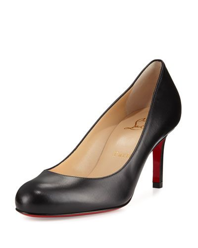 37d846896fd6 CHRISTIAN LOUBOUTIN Simple Leather 70Mm Red Sole Pump