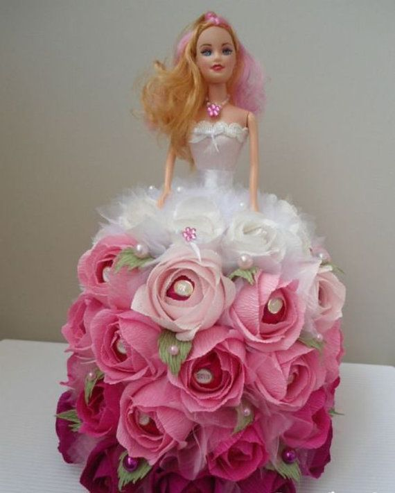 Hey, I found this really awesome Etsy listing at https://www.etsy.com/listing/269780848/barbie-doll-chocolate-bouquet-doll-candy
