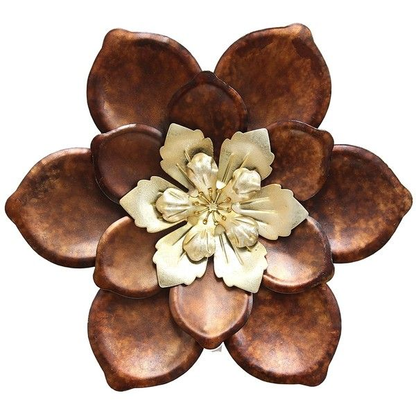 Whimsical Flower Metal Wall Plaque ($30) ❤ Liked On Polyvore Featuring Home,  Home