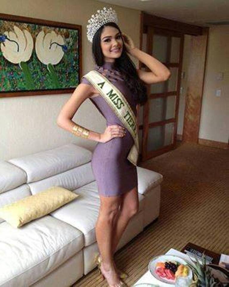 Andrea Rosales Miss Earth Venezuela 2015, le Toco la pronta responsabilidad de Representar al País, en el Concurso Miss Earth 2015 que se llevaría a cabo en Austria,