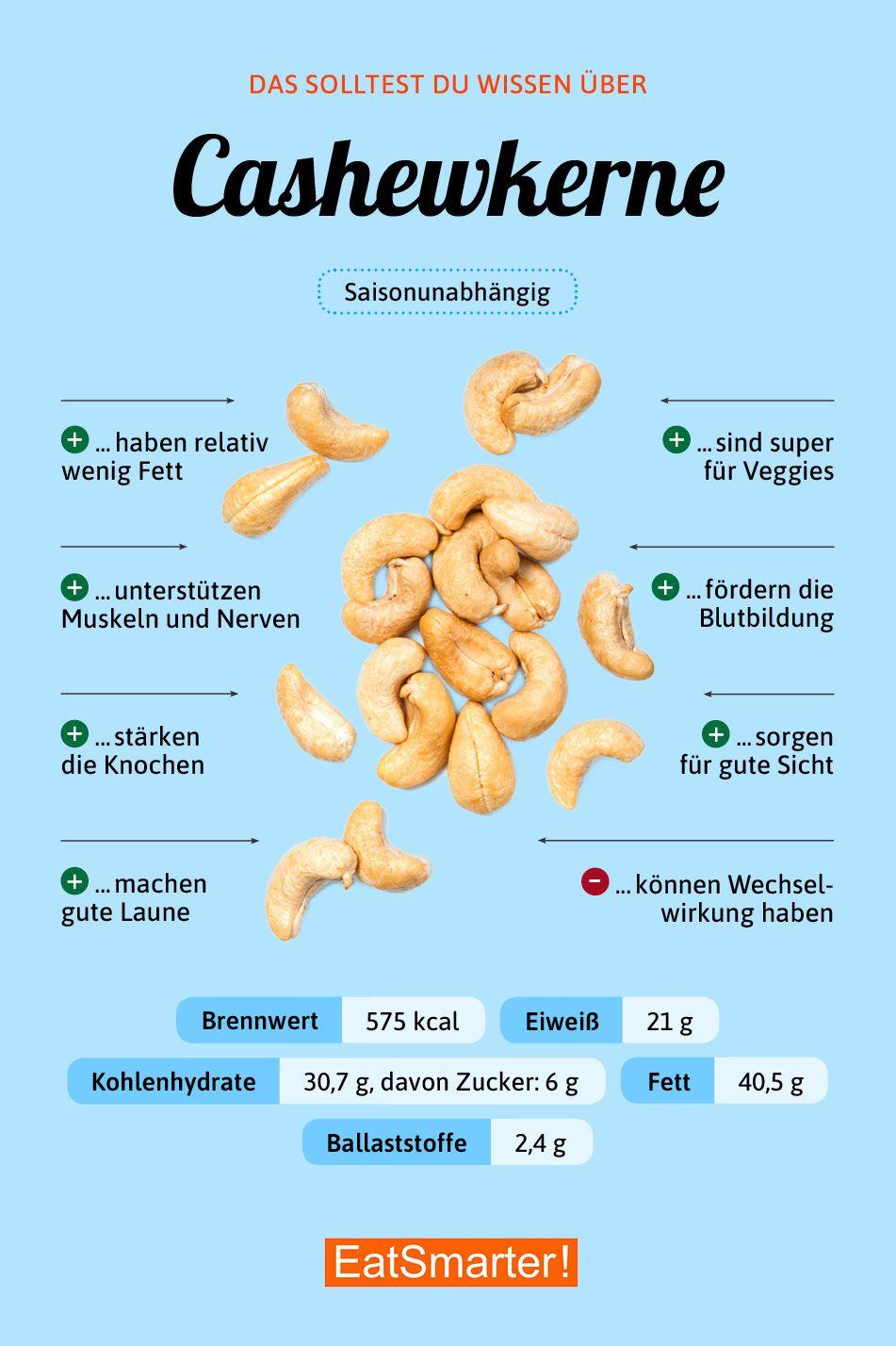 Cashewkerne Ernahrung Nahrungsinformationen Gesunde Nahrungsmittel