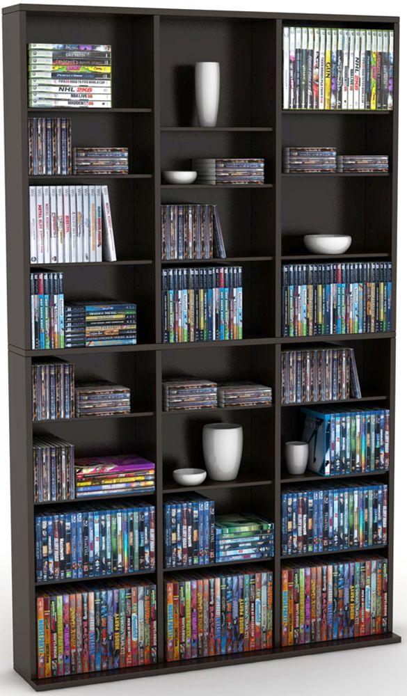 Luxury Espresso Dvd Storage Cabinet